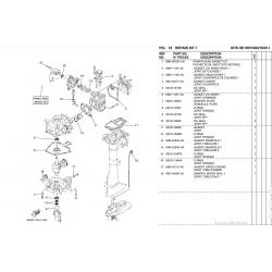 Kit de juntas bloque motor Yamaha F2.5A 69M-WE001-00