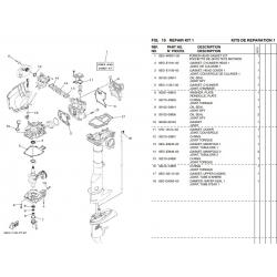 Juego juntas bloque motor Yamaha F2.5B - 6EG-W0001-00