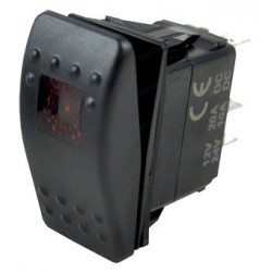 Interruptor de panel on-off-on con led