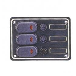 Panel interruptores aluminio negro