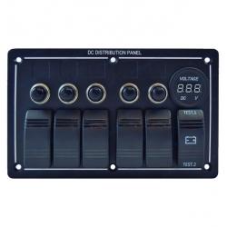 Panel 5 interruptores + indicador voltaje