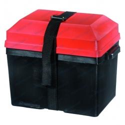 Caja batería PVC negra y tapa roja
