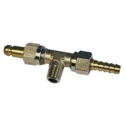 Conexión doble con purga 6mm