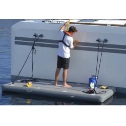 Plataforma flotante hinchable