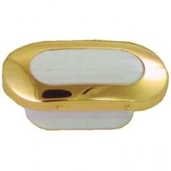 Plafón LED Dorado Ovalado Goldenship