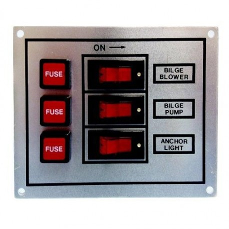 Panel Interruptor Aluminio Goldenship Nº2