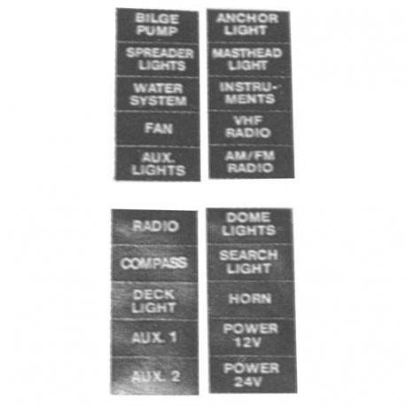 Etiquetas Panel 28x12mm Goldenship