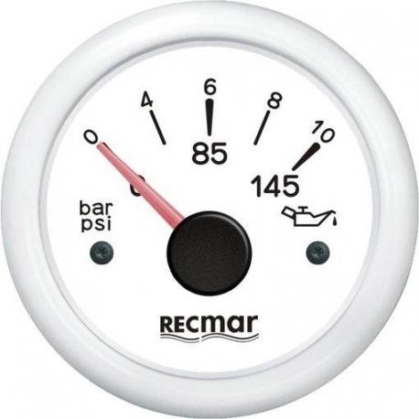 Indicador Presión de Aceite 0/10 bar Recmar