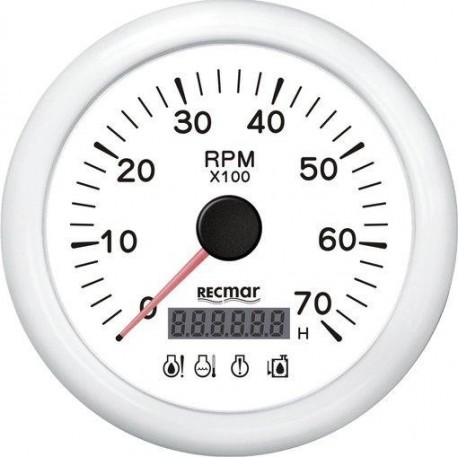 Indicador Cuentavueltas 8000RPM 4LED Alarma Recmar