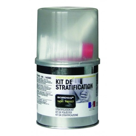 Kit Reparación Resina + Fibra 250g Soromap