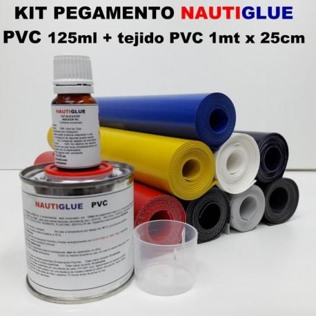 Kit Pegamento PVC 125ml + Tejido 1mx25cm Nautiglue