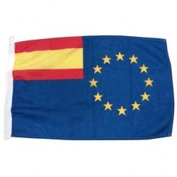 Bandera Unión Europea y España