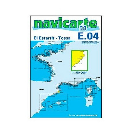 Carta Nautica El Estartit - Tossa E04 Navicarte
