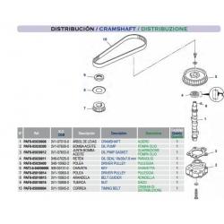 Despiece distribución MSF8 /MSF9.8